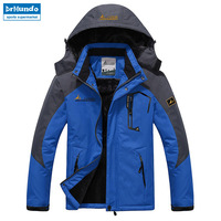 Ski Jacket Men Waterproof Fleece Snow Jacket Thermal Coat For Outdoor Mountain Skiing Snowboard Jacket Plus Size Brand