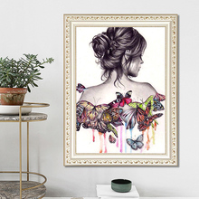 DIY diamond painting he lady with the hair tied up 5d icon embroidery mosaic decoration new year gift