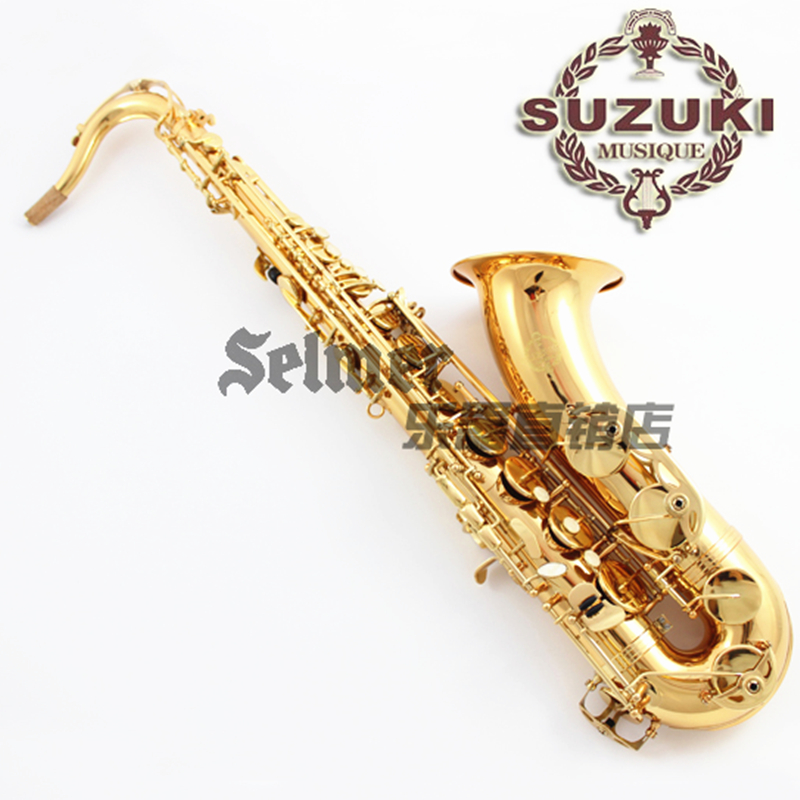 Suzuki Tenor B-Flat Saxophone Top Musical Instrument Saxe electrophoresis Gold Professional bB sax tenor saxophone free shipping selmer instrument saxophone wire drawing bronze copper 54 professional b mouthpiece sax saxophone