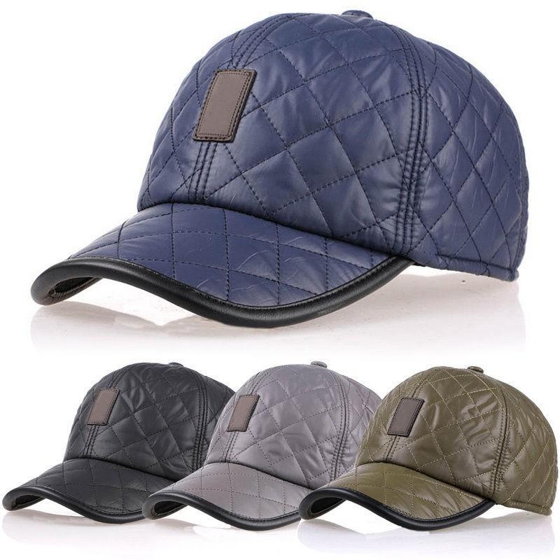 563c4234821 New Design Men s Fashion Protective Ear Baseball Caps Winter Warm ...
