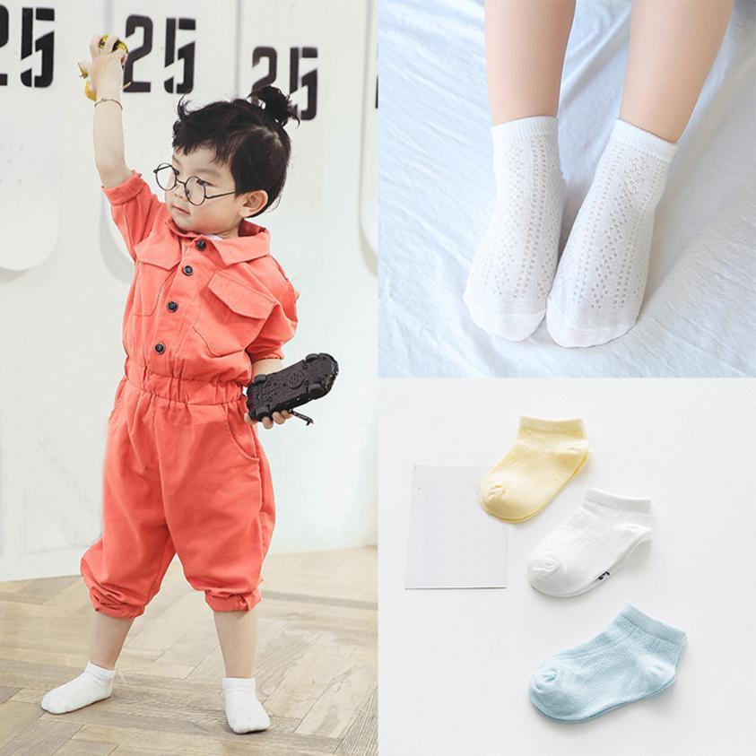 3 Pairs Newborn Baby Boy Girl Cotton Socks Infant Toddler Kids Children Soft Sock Solid Socks For Kinds Meias Infantil Sokken