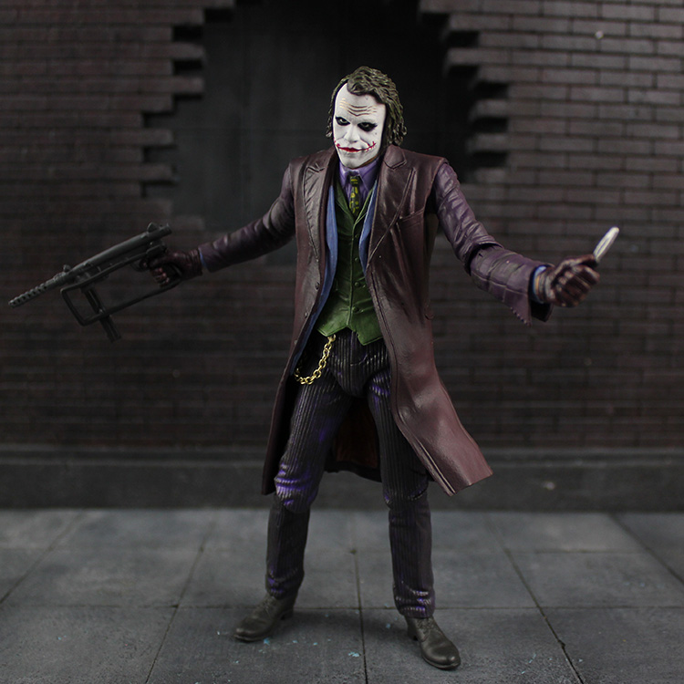 Tobyfancy NECA Batman Joker 7 inch PVC Action Figure Joker Joints Movable Collection Model Toy neca planet of the apes george taylor clothed pvc action figure collection model toy 8 20cm