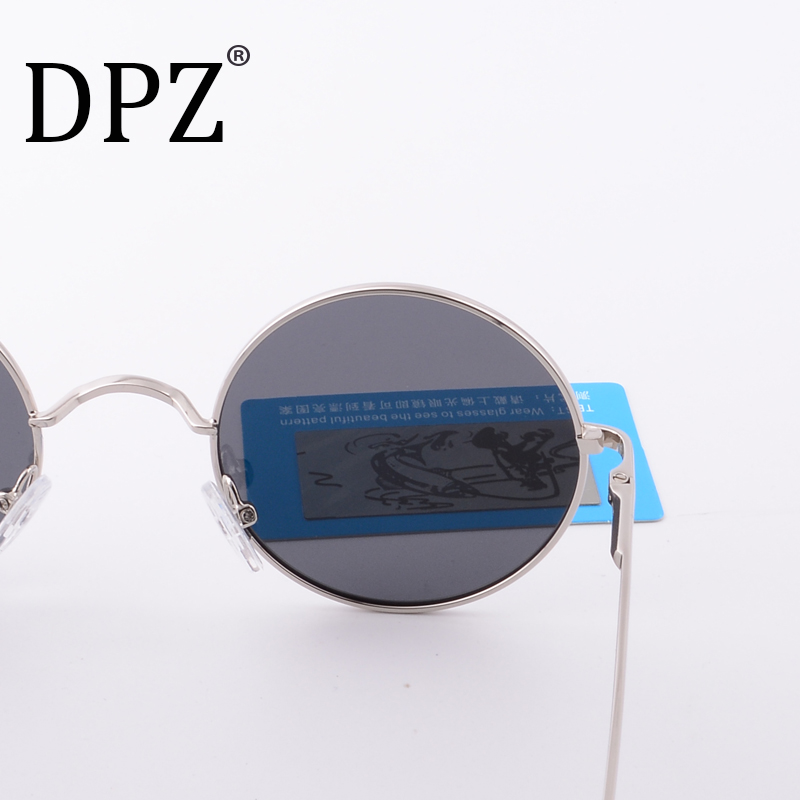 2018 Steampunk Round Sunglasses Women Men Anti-UV Polarized Metal Frame hot rayeds Retro Sun Glasses Mirror gafas de sol
