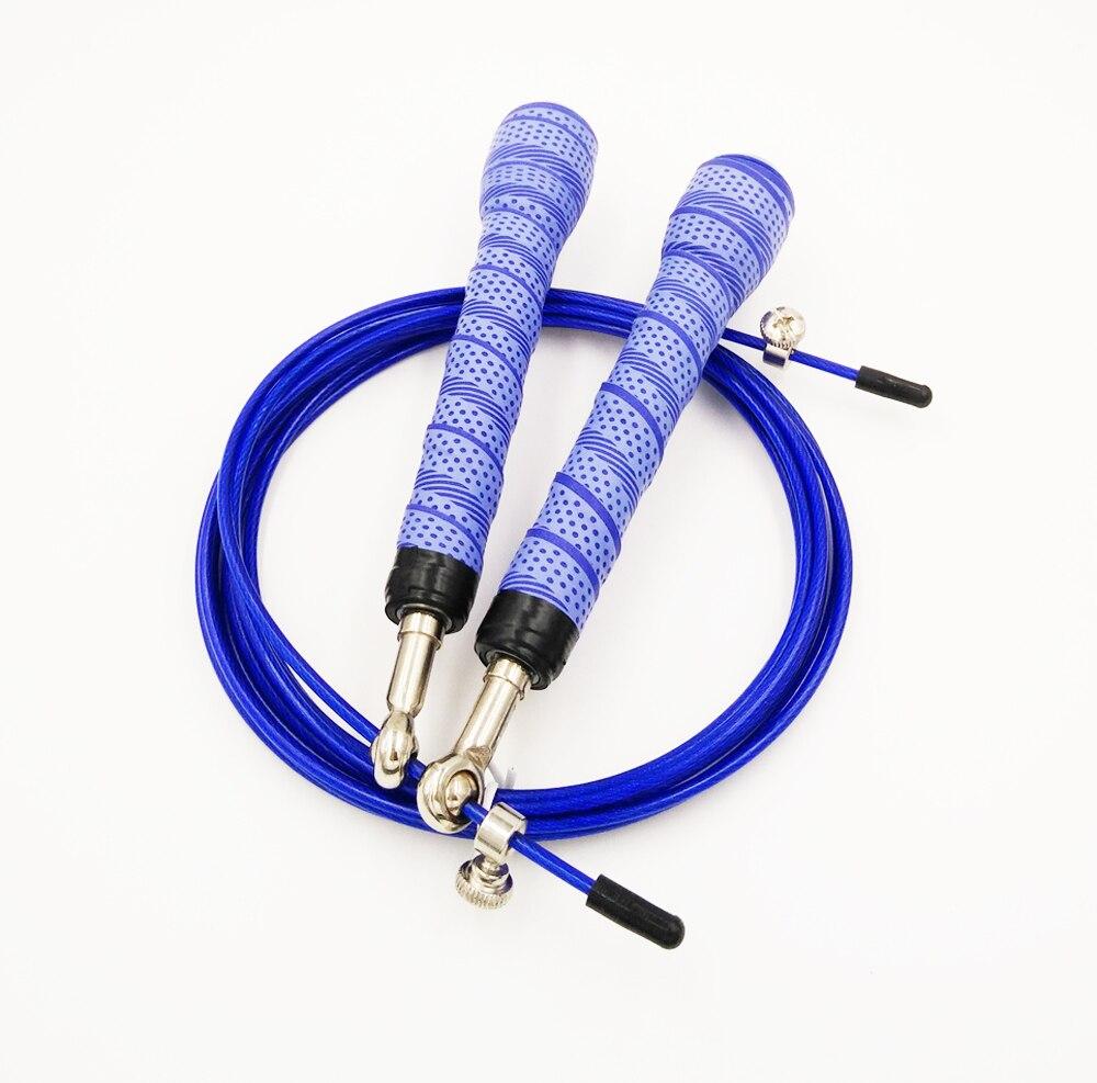 Kecepatan 3 m Kabel Anti-selip Lewati Lompat Tali Crossfit Home Gym Kebugaran Trainning Tali Adjustable Tali Lompat Latihan