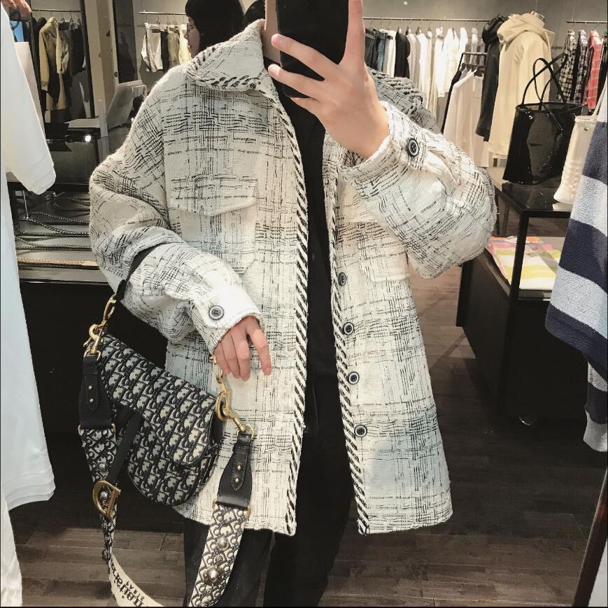 Novo inverno solto estilo coreano japonês simples padrão de impressão jaqueta juventude dos homens bonito lapela jaqueta hairstylist casaco
