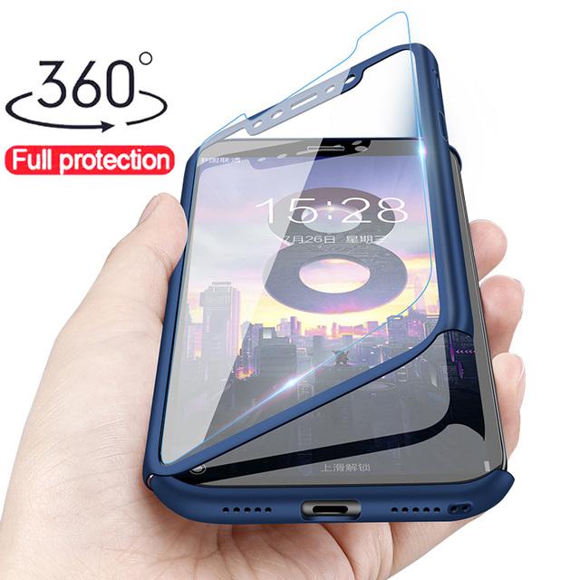 Luxury 360 Full Protection Case For Xiaomi Pocophone F1 Case For Xiaomi Mi 8 SE Mi 5 5S Plus Mi5X 6X  Phone Case