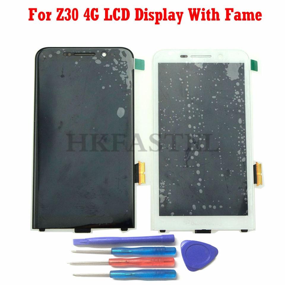 For BlackBerry Z30 4G BLACK White New Original Full Complete LCD Display Touchscreen Digitizer Bezel Frame