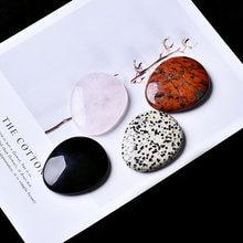 1 PC de roca Natural de cuarzo rosa obsidiana te preocupes piedra puede ser utilizado para reducir el estrés DIY regalos de la joyería