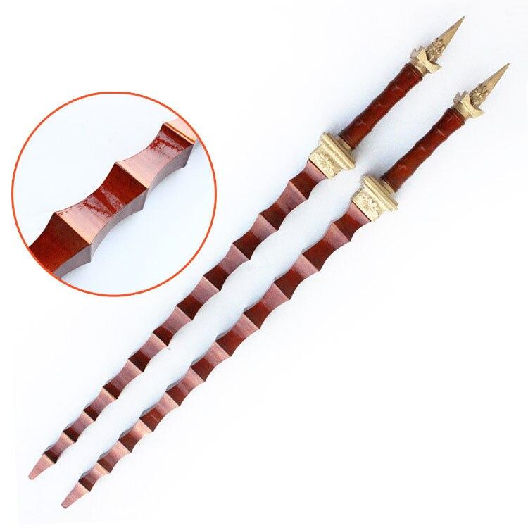 93 cm double wips double massues poire bois wushu armes kung fu dans Arts martiaux de Sports et loisirs