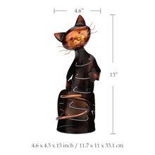 Cat Wine Holder Metal Sculpture