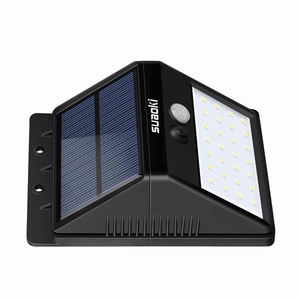 4 шт. Suaoki 2200 мАч движения Сенсор 28 светодиодный свет Автоматическое включение/Off перезаряжаемая солнечная батарея IP65 Водонепроницаемый тусклый/яркий для housedoor
