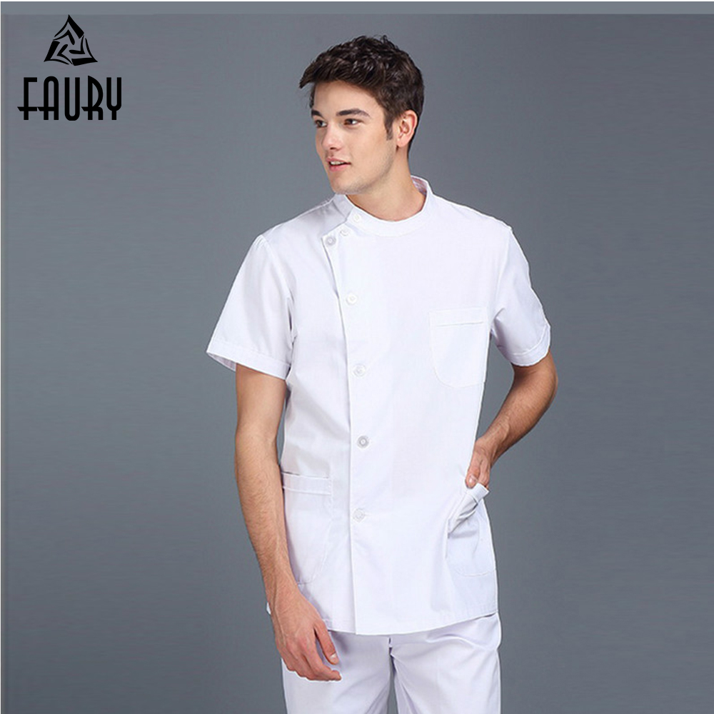 Men Coat Clothing Scrubs Nurse Doctor Uniform Hospital Surgical Tops Medicos Medical Gowns Lab Coat Workwear Wholesales Clothes