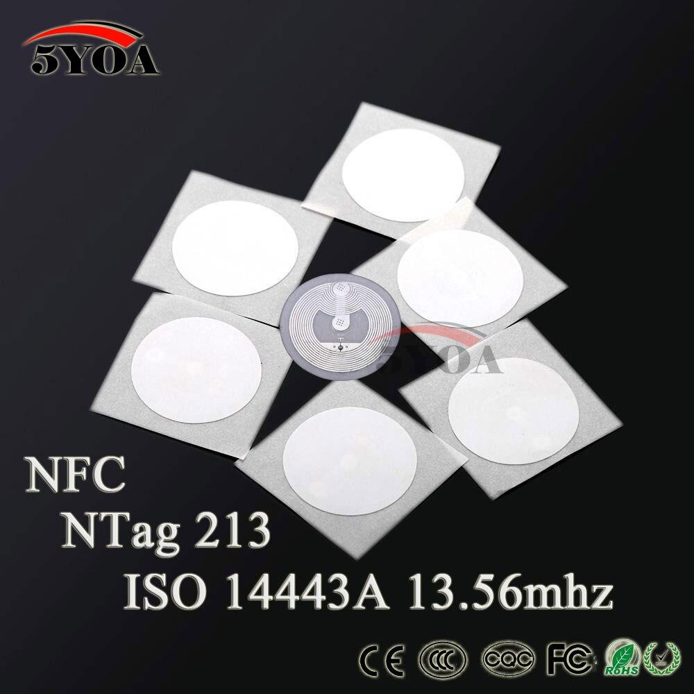 100pcs NFC TAG Sticker 13 56MHz NTAG 213 Universal Label RFID Tag Key Tags  NXP MIFARE Ultralight Token Patrol