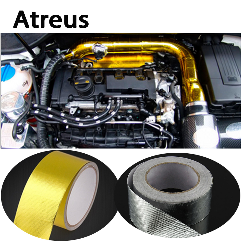 Atreus Car styling Engine exhaust pipe insulation stickers for Mercedes benz W204 W203 W211 AMG Mini cooper Skoda octavia a5 yandex w205 amg style carbon fiber rear spoiler for benz w205 c200 c250 c300 c350 4door 2015 2016 2017