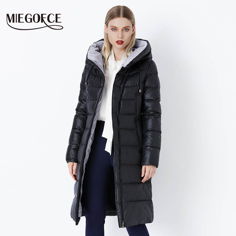MIEGOFCE 2019 Coat Jacket Winter Women's Hooded Warm Parkas Bio Fluff Parka Coat Hight Quality Female New Winter Collection Hot