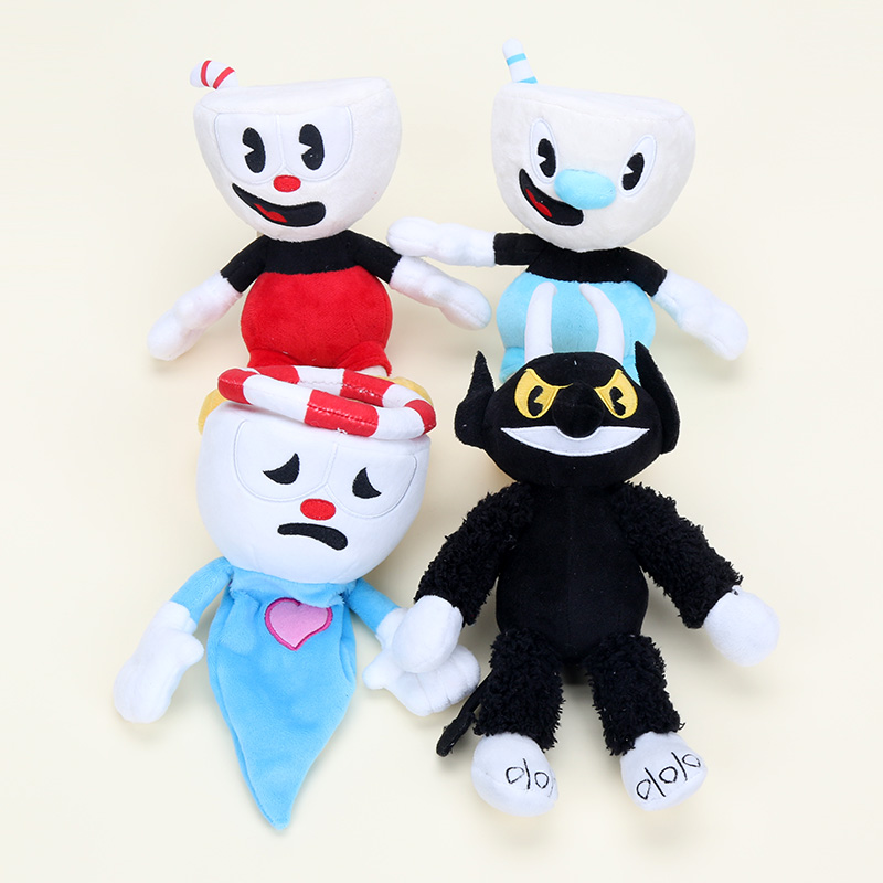 Chalice Devil King Dice Plush Toys Cuphead Mugman Soft Stuffed Doll Kids