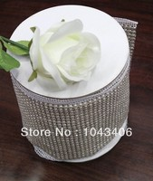 Free Shippment Rhinestone Pearl Mesh 24rows Shoes Trimming SS18 Pearl Beads Aluminum Base 5 Yards Lot