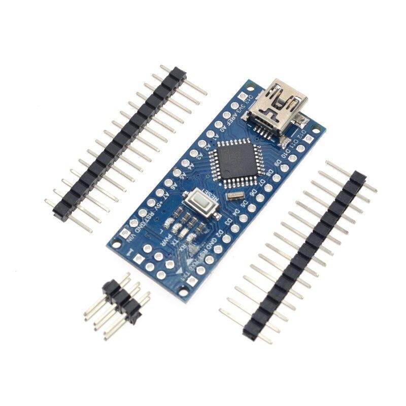10 PCS Promoção Funduino Nano 3.0 Controlador Compatível Atmega328 Board para Arduino Módulo placa de Desenvolvimento Pcb sem USB