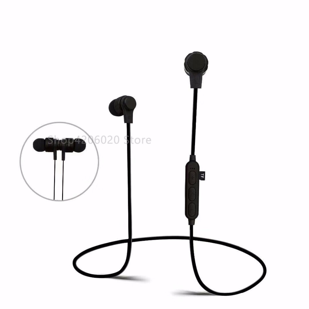 2018 Bluetooth headset MP3+FM radio function wireless headphone running sports earphone with TF card solt universal