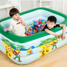 150 см трехэтажный детский Крытый бассейн надувной утолщенный увеличивающий пузырь Бассейн семейный надувной бассейн с игровой корзиной игрушка для воды