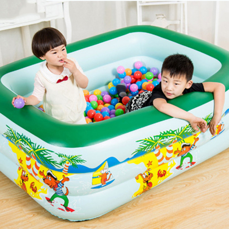 150cm Three-story Children's Indoor Swimming Pool Inflatable Thicken Heighten Bubble Pool Family Inflatable Pool Play Water Toy
