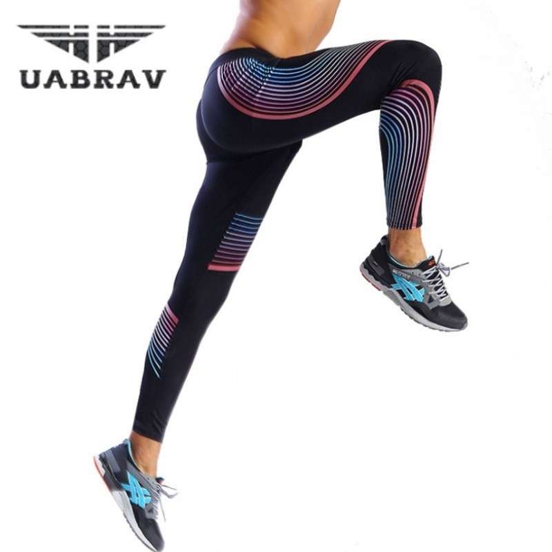 UABRAV Seven Color Tight Pants Compression Gym Mens Long Pants Running Tights Soccer Pants Mens New Joggers Trousers Stretch