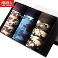 Nuevo tres montado hombres boxer underwear fresco de dibujos animados ice temporada sixia delgado joven esquinas cinturones de impresión caja de regalo
