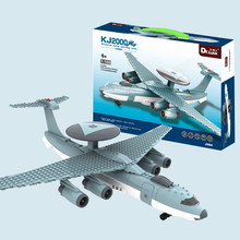 229PCS Military Toy Fighter Modern Warfare Military Aircraft AWACS Model Building Block Sets Compatible With Legoe