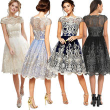 0f95d629e 2018 Brand New Women Lace Prom Floral Formal Party Bridesmaids Ball Gown  Dress Women Formal Dress