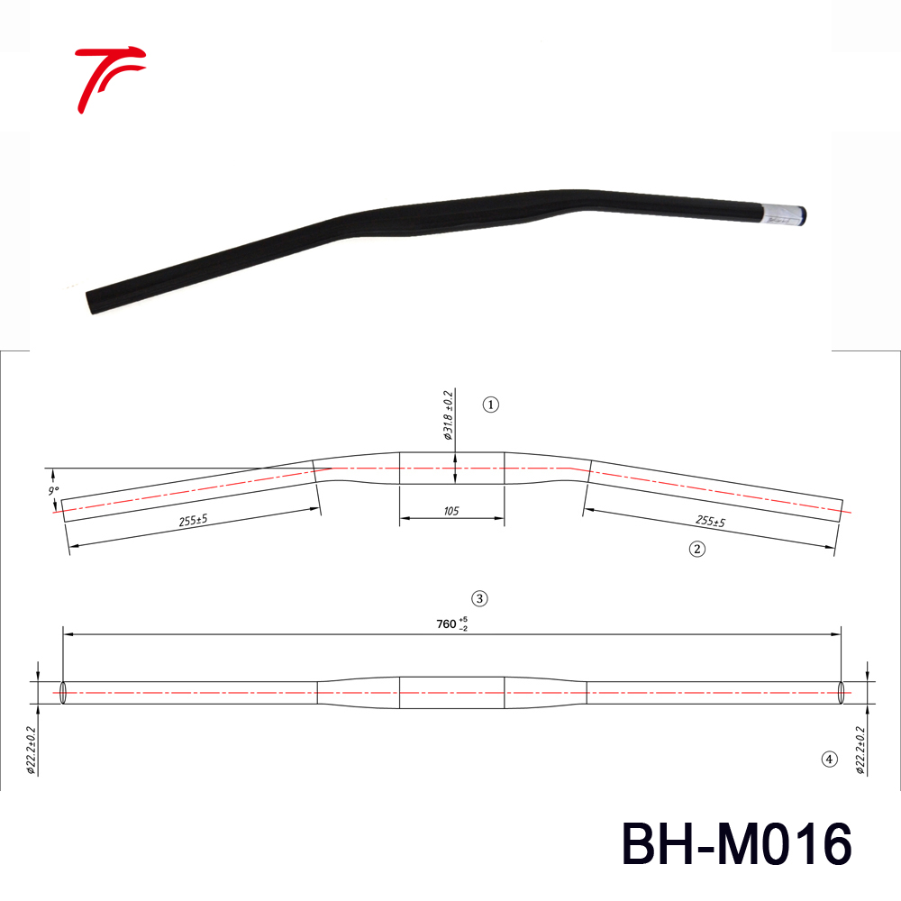 1 Piece Light Weight 100g Carbon Handlebar Mtb Bike Parts Mountain Diagram Picture Handle Bar Bh M016 In Bicycle From Sports Entertainment On