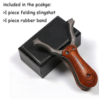 Easy to Carry! Folding Slingshot Professional Catapult Steel Wood Powerful Accurate Shooting Hunting Accessories Archery NEW