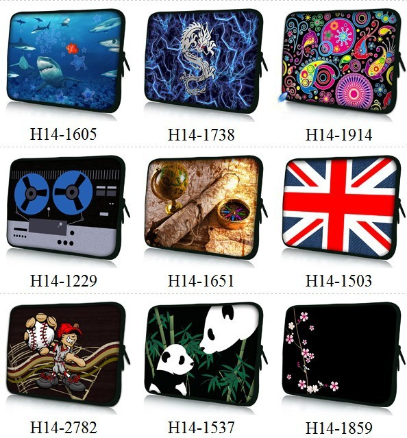 Free shipping Hot design 14 inch Laptop Sleeve Pouch Bag Tablet Case Cover For For Macbook Air/Pro/Retina 14 14.1 14.3