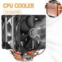12cm Dual Fan CPU Cooler Heatsink Radiator 6 Heat Pipes CPU Cooler Fan Cooling Cooler for LGA 1150/1151/1155/1156/1366/775 AMD