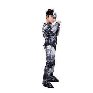 Muscle Superhero Cyborg Costume for Kids Superman Cosplay Super Hero Uniform Halloween Costumes for Boys S-L(China)