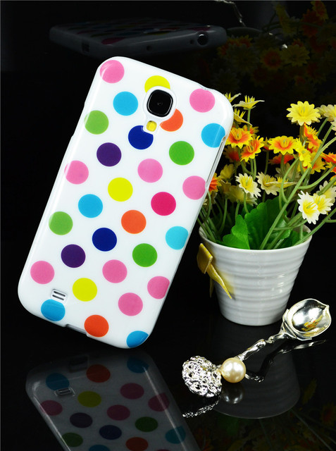 Freeshipping! High Quality Soft TPU Silicone Polka Dot Case Cover for Samsung Galaxys i9500 S4 S IV
