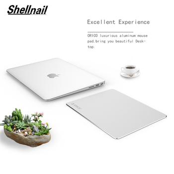 Shellnail Office Metal Aluminum Mouse pad Mat Hard Smooth Magic Thin Mousead Double Side Waterproof Fast and Accurate Control