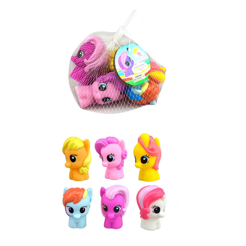 Funny NEW Pony Squeeze Toys Squish Toy Spray Water Squishy My Cute Little Poni 2 Different Sizes For Baby Kids Gift