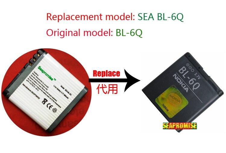 Retail Mobile Phone Battery BL-6Q BL6Q BL 6Q For Nokia 6700 Classic