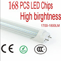 20pcs 18W 1200mm 4 Feet LED Tube Transparent Cover Warm White/Cool White AC85V-265V 1700-1800LM bright LED LIGHT Bulb Lamp