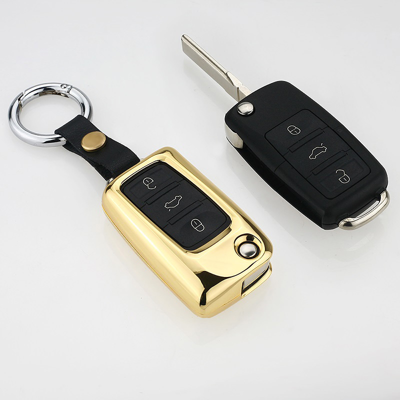Car Key Cover Case for V W golf for Skoda Yeti Superb Rapid Octavia for SEAT leon ibiza 3 button remote