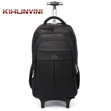 Trolley Backpack On Wheels Men Draw Bar Travelling Back Pack Women Luggage Shoulders Bag For Trip Mochila  Big Bagpack High End