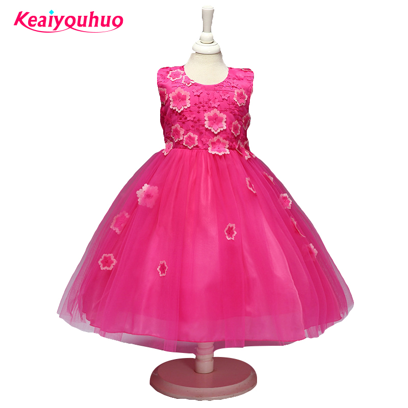 Best Fashion Girl Party Dresses Kids Girls Birthday Outfit Summer Childrens Clothing Princess For 2 3 4 5 6 7 8 Year Clothes