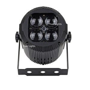 Image 2 - 2019 più nuovo Zoom Par Luci 4X10W RGBW 4IN1 LED Flat Par Luci Della Discoteca del DJ Della Lampada KTV Bar Partito Retroilluminazione Fascio lavaggio Proiettore