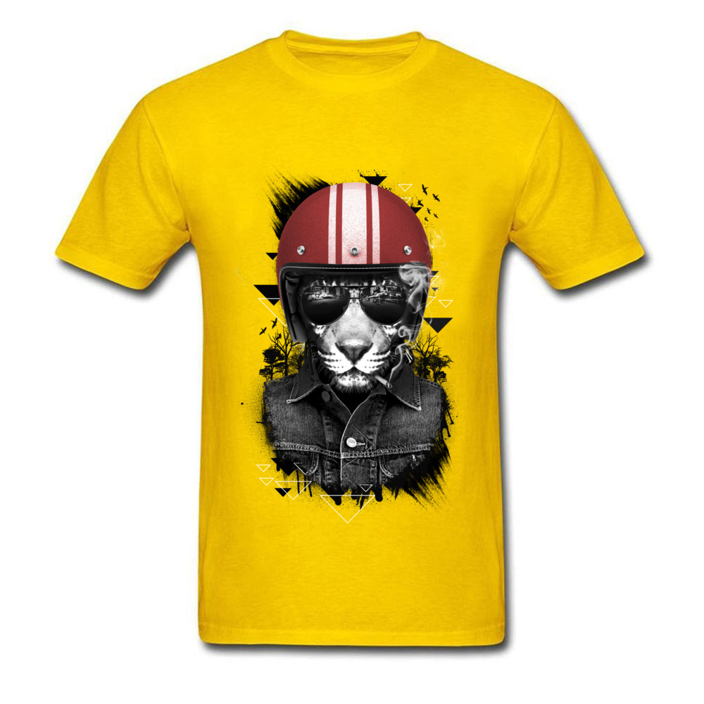 Jungle Rider NEW YEAR DAY 100% Cotton Round Neck Tops Shirts Short Sleeve Casual Tee Shirts Newest Comics Tshirts Jungle Rider yellow