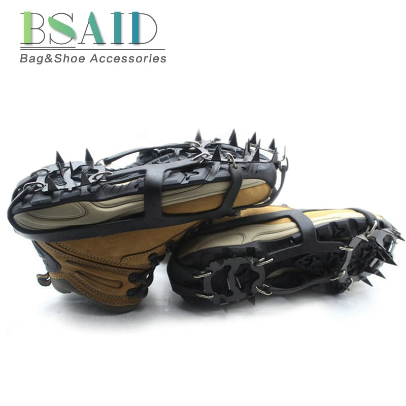 BSAID 1 Pair Non-Slip Crampons Ice Gripper 18 Teeth Spike Grips Cleats For Ice <font><b>Snow</b></font> Climbing Hiking Women Men Boots <font><b>Shoe</b></font> Covers