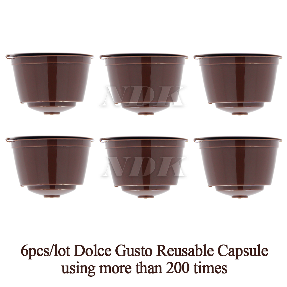 6 pcs pack refillable dolce gusto coffee capsule nescafe. Black Bedroom Furniture Sets. Home Design Ideas