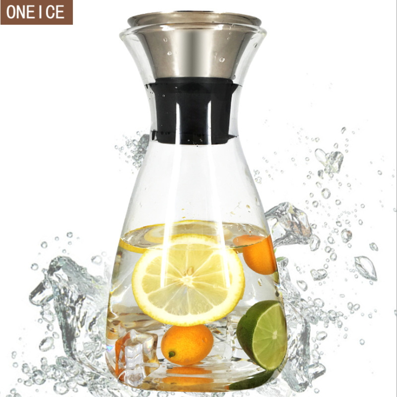 New large capacity glass pot heat resistant glass coffee pot stainless steel filter  Tea kettle 1000 ml / 1400 ml