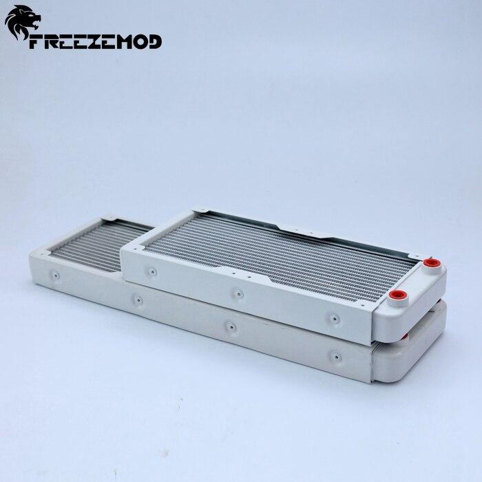 Алюминиевый жидкостный радиатор FREEZEMOD 240 мм для компьютера с вентилятором 2*12 см. SR-LPZJ240