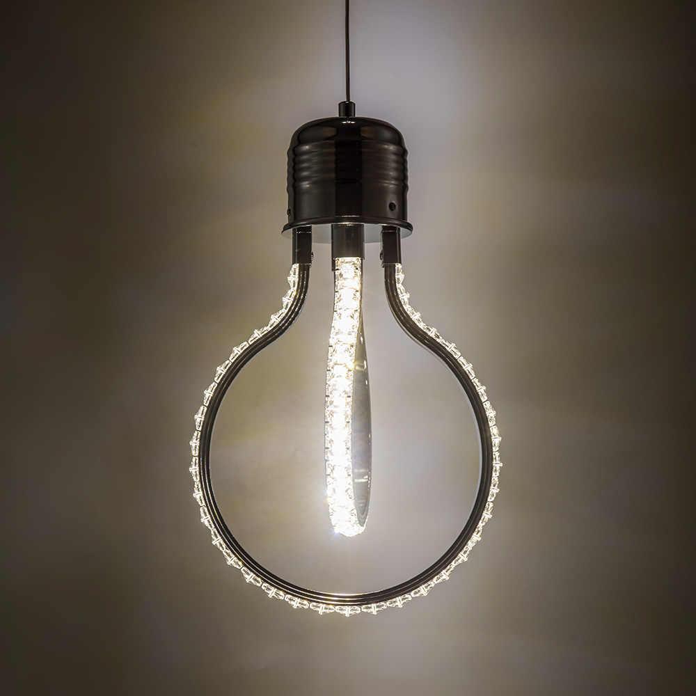 Светодиодный потолочный светильник в виде хрустальной люстры для гостиной, подвесной светильник для спальни, лестничный светильник, новинка, подвесной светильник в стиле лофт, s