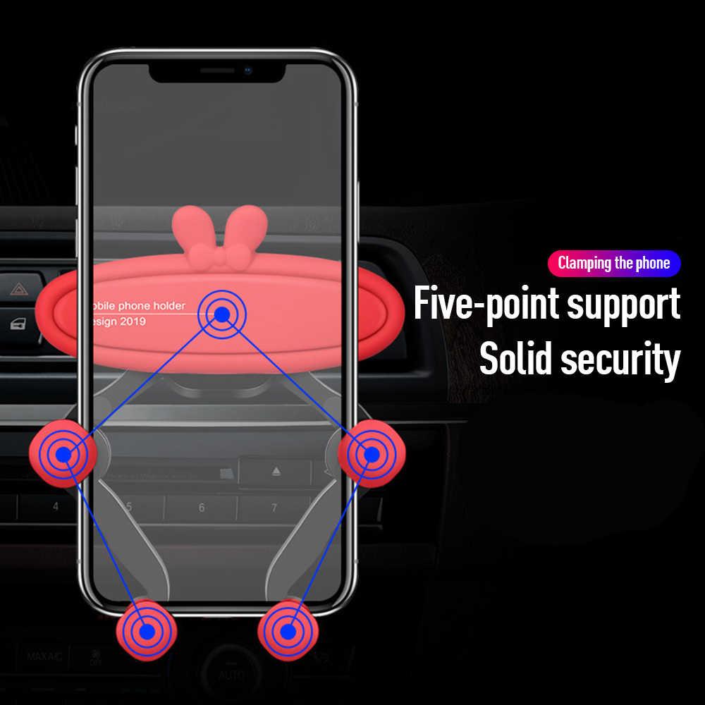 1 重力自動車電話ホルダー iphone 8 X Xs 最大サムスン S9 S8 でカーエアコンマウントホルダーなし磁気携帯スタンド